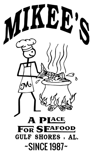 Mikee's Seafood Retina Logo